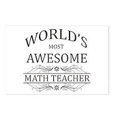 World's Most Awesome Math Teacher Postcards (Packa