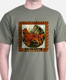 Golden Retriever Green T-Shirt