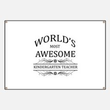 World's Most Awesome Kindergarten Teacher Banner