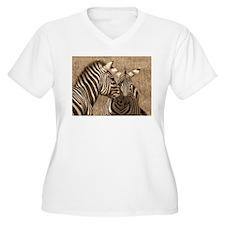 African Zebras Plus Size T-Shirt