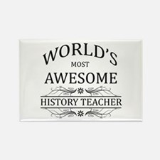 World's Most Awesome History Teacher Rectangle Mag