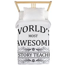 World's Most Awesome History Teacher Twin Duvet