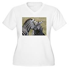 Mara Zebras Plus Size T-Shirt