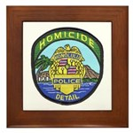 Honolulu PD Homicide Framed Tile