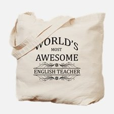 World's Most Awesome English Teacher Tote Bag