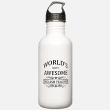 World's Most Awesome English Teacher Sports Water Bottle
