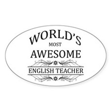 World's Most Awesome English Teacher Decal