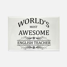 World's Most Awesome English Teacher Rectangle Mag