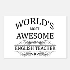 World's Most Awesome English Teacher Postcards (Pa