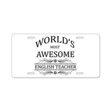 World's Most Awesome English Teacher Aluminum Lice