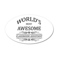 World's Most Awesome Classroom Assistant Wall Decal