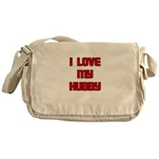 I LOVE MY HUBBY RED Messenger Bag