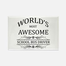 World's Most Awesome School Bus Driver Rectangle M