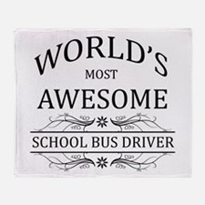World's Most Awesome School Bus Driver Throw Blank
