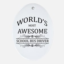 World's Most Awesome School Bus Driver Ornament (O