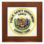 Hawaii Corrections Framed Tile
