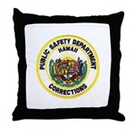 Hawaii Corrections Throw Pillow
