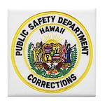Hawaii Corrections Tile Coaster