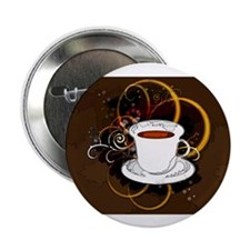 """Cup of Coffee 2.25"""" Button (100 pack)"""