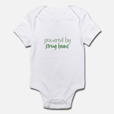 Powered By string beans Infant Bodysuit