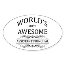 World's Most Awesome Assistant Principal Decal