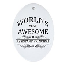 World's Most Awesome Assistant Principal Ornament