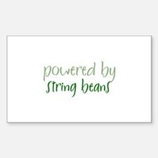 Powered By string beans Rectangle Decal