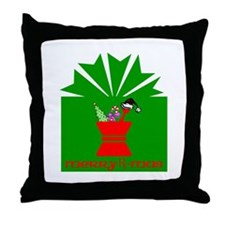 Merry Rx-mas Throw Pillow