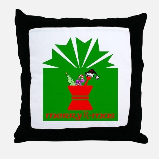Merry Rx-mas Throw Pillow