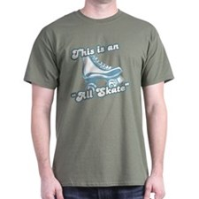 This is an All Skate Olive T-Shirt