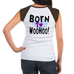 Born To WooHoo! (BackDesign) Women's Cap Sleeve T-