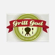 Grill God Rectangle Magnet