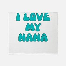 I LOVE MY NANA LIGHT BLUE Throw Blanket