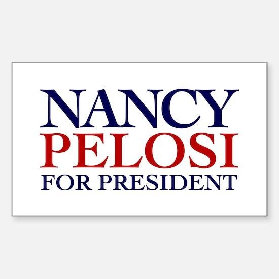 Nancy Pelosi for President Rectangle Decal