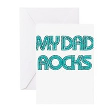 MY DAD ROCKS TEAL Greeting Cards (Pk of 20)