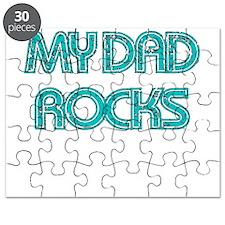 MY DAD ROCKS TEAL Puzzle