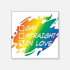 Gay Straight In Love Sticker