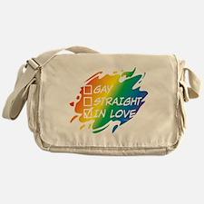 Gay Straight In Love Messenger Bag