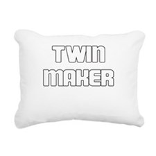 TWIN MAKER WHITE Rectangular Canvas Pillow
