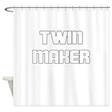 TWIN MAKER WHITE Shower Curtain
