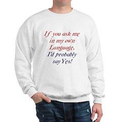 The English Sweatshirt