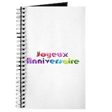 Joyeux Anniversaire French Happy Birthday Journal