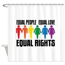 Equal People Equal Love Shower Curtain