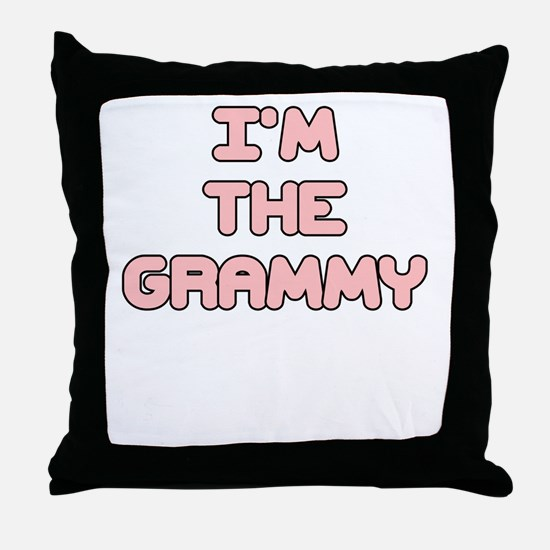 IM THE GRAMMY IN PINK Throw Pillow