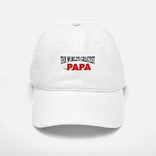 """The World's Greatest Papa"" Baseball Baseball Cap"