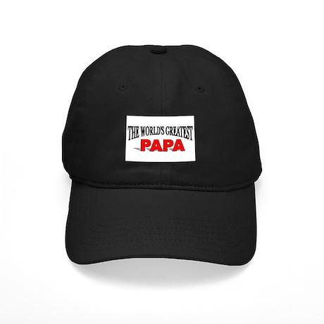 """The World's Greatest Papa"" Black Cap"