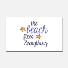 The Beach Fixes Everything Car Magnet 20 x 12