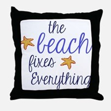 The Beach Fixes Everything Throw Pillow
