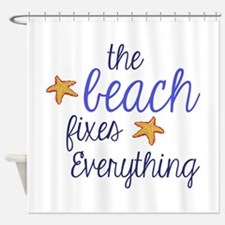 starfish shower curtains starfish fabric shower curtain liner. Black Bedroom Furniture Sets. Home Design Ideas