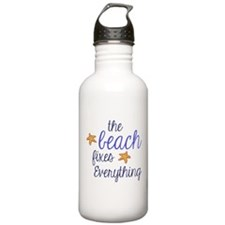 The Beach Fixes Everything Water Bottle